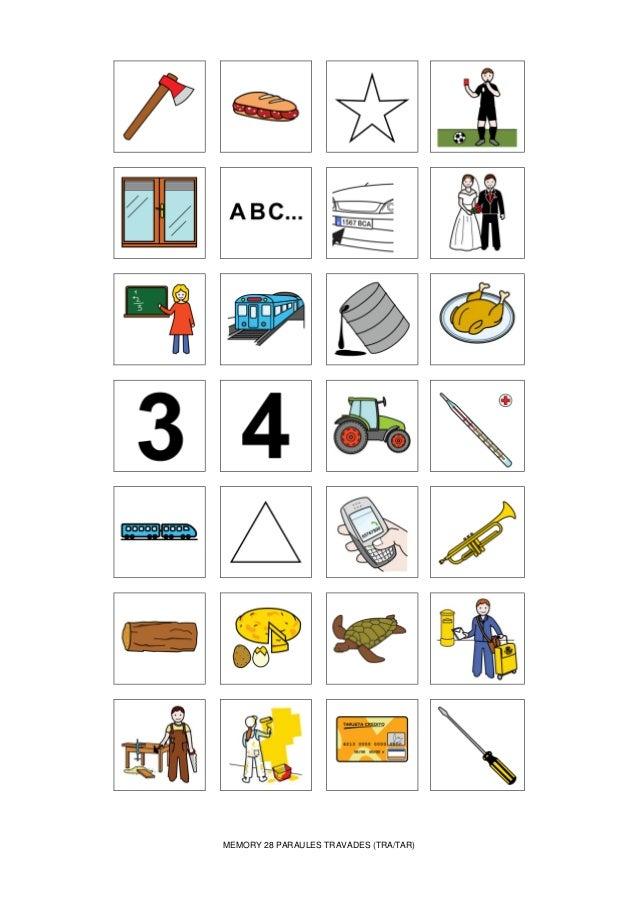 MEMORY 28 PARAULES TRAVADES (TRA/TAR)