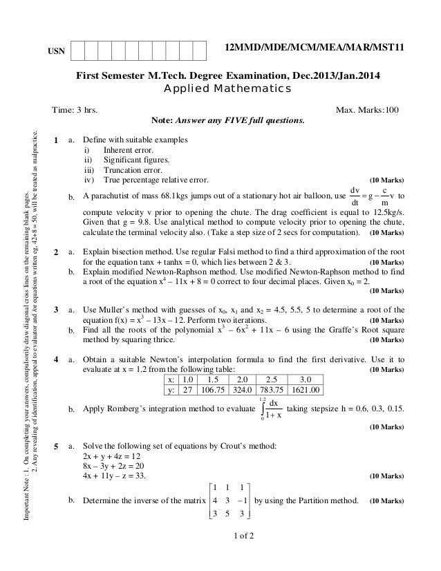 12 mmd11 applied mathematics -dec 2013,jan 2014