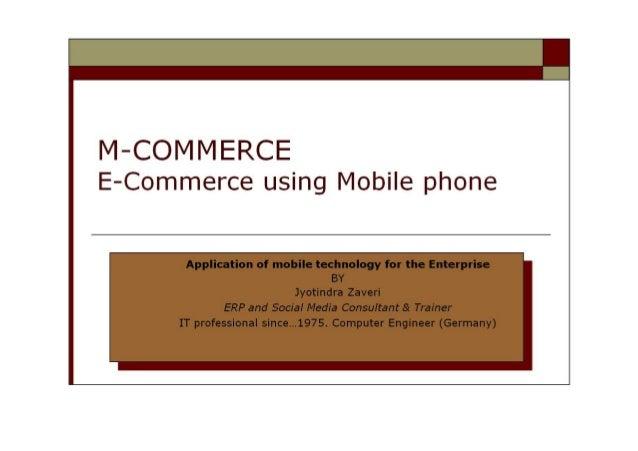 M-commerce - Mobile commerce - E-commerce