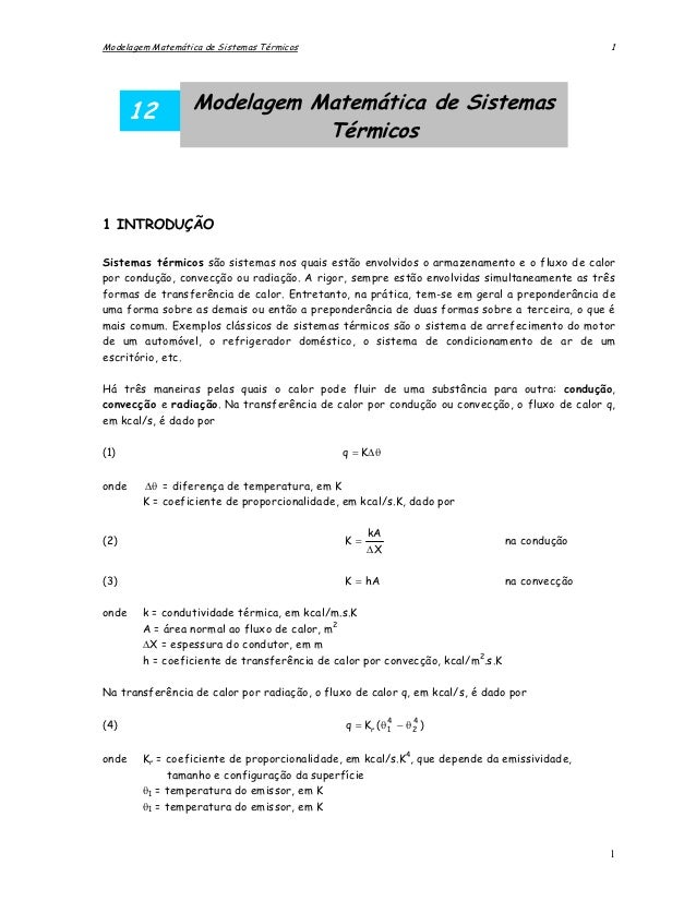 Modelagem Matemática de Sistemas Térmicos                                                     1       12          Modelage...