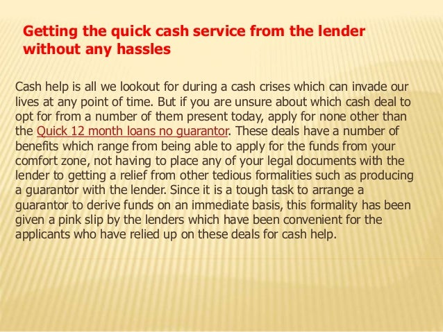 Getting the quick cash service from the lender without any hassles Cash help is all we lookout for during a cash crises wh...