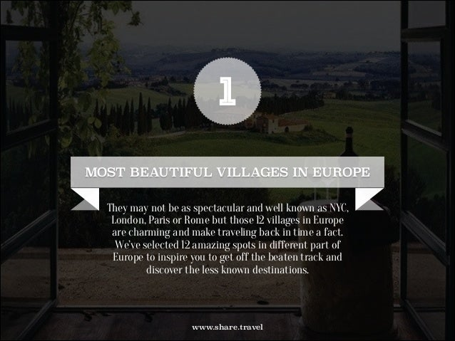 12 Most Beautiful Villages in Europe by Travel World Passport Slide 2