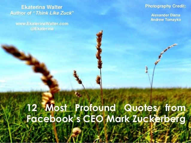 "Ekaterina Walter          Photography Credit:Author of ""Think Like Zuck""     Alexander Diana                              ..."