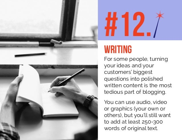 For some people, turning your ideas and your customers' biggest questions into polished written content is the most tediou...
