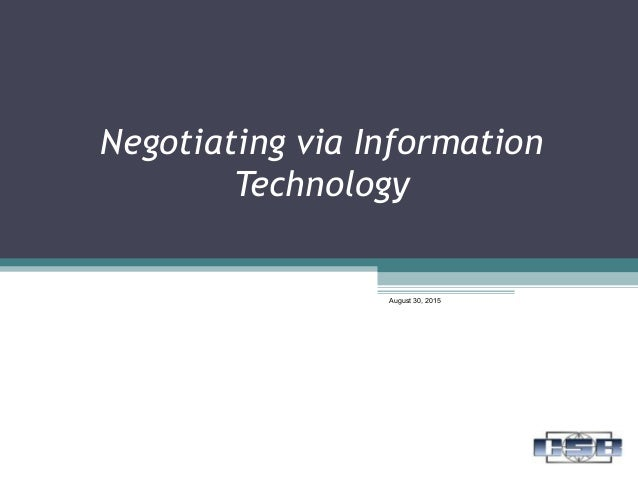 12 negotating via info tech