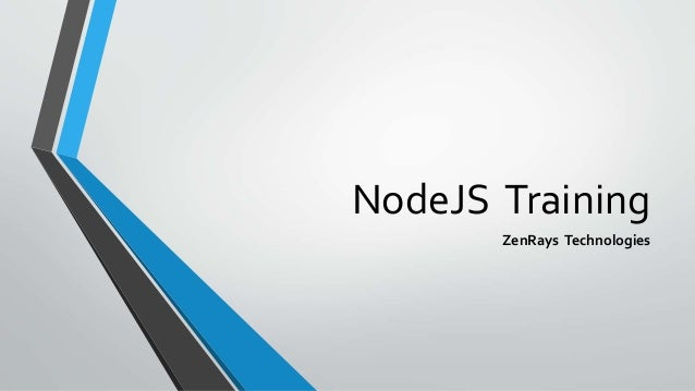 NodeJS Training ZenRays Technologies
