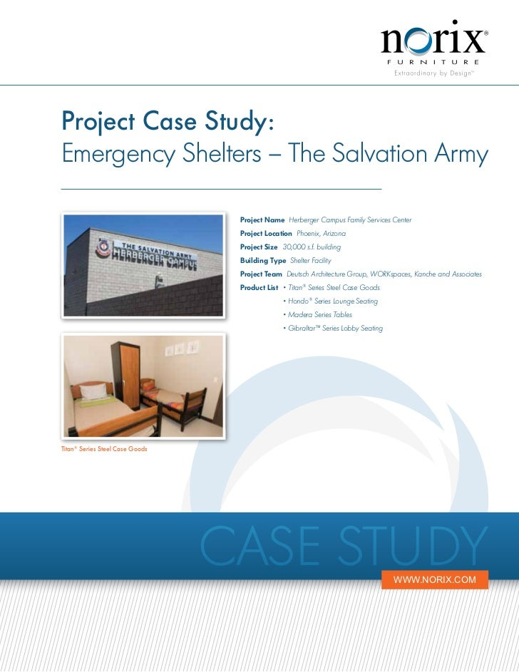 Project Case Study:Emergency Shelters – The Salvation Army                                  Project Name Herberger Campus ...