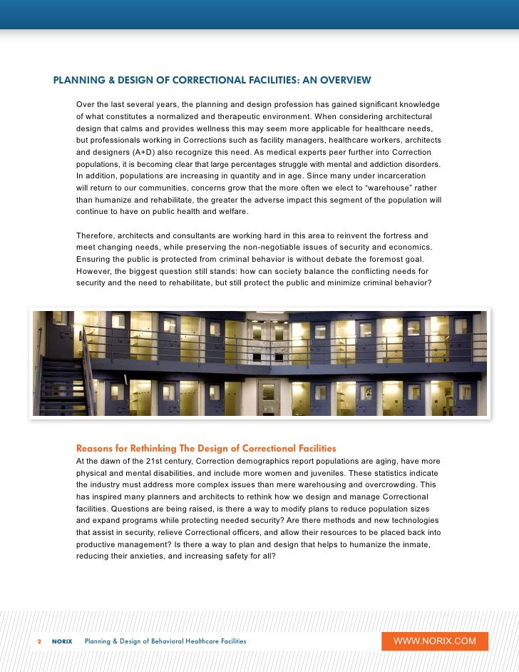 Planning And Design Of Correctional Facilities