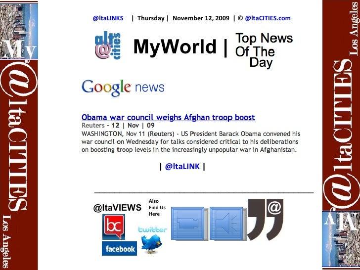 @ltaLINKS     |  Thursday |  November 12, 2009  | ©  @ltaCITIES.com Also Find Us Here @ltaVIEWS |  @ltaLINK   | __________...