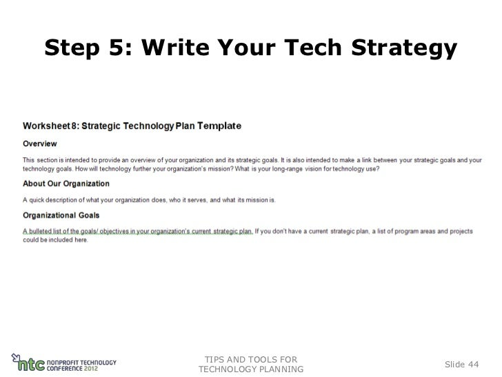 Tips And Tools For Technology Planning