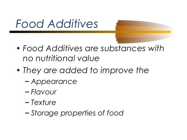 IGCSE Nutrition Revision – Food Additives Worksheet