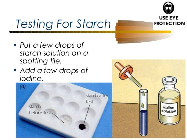 test for starch Starch hydrolysis what is the purpose of the test the purpose is to see if the microbe can use starch, a complex carbohydrate made from glucose, as a source of carbon and energy for growth.