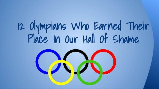 12 Olympians Who Earned Their Place In Our Hall Of Shame