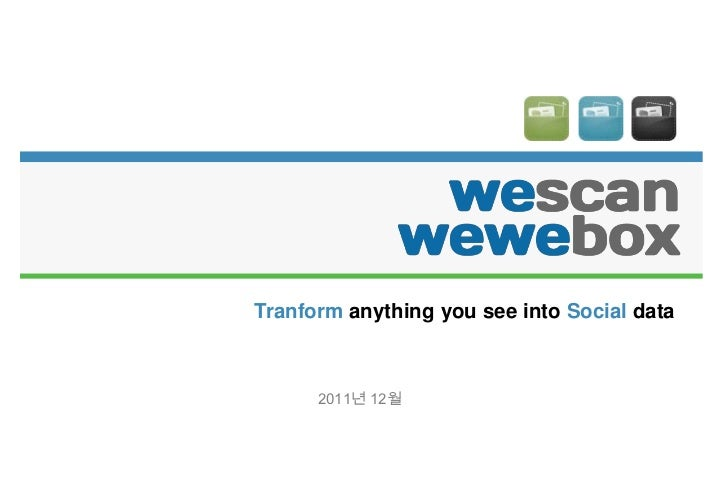 Tranform anything you see into Social data      2011년 12월