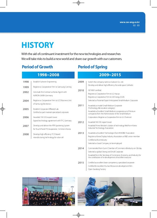 www.sw-eng.co.kr 02 | 03 With the aid of continuant investment for the new technologies and researches We will take risks ...