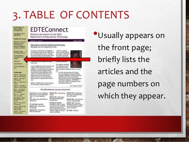 12-parts-of-a-newsletter-8-638 Table Of Contents Newsletter Template on for assignment, for students, tabulated grade sheet, ms word, for business plan, avery 10 tab,
