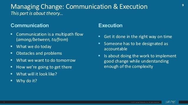 10 § Communicationwithoutexecutionis hotair. § Executionwithoutcommunication hasverylittlecredibility. Managing...