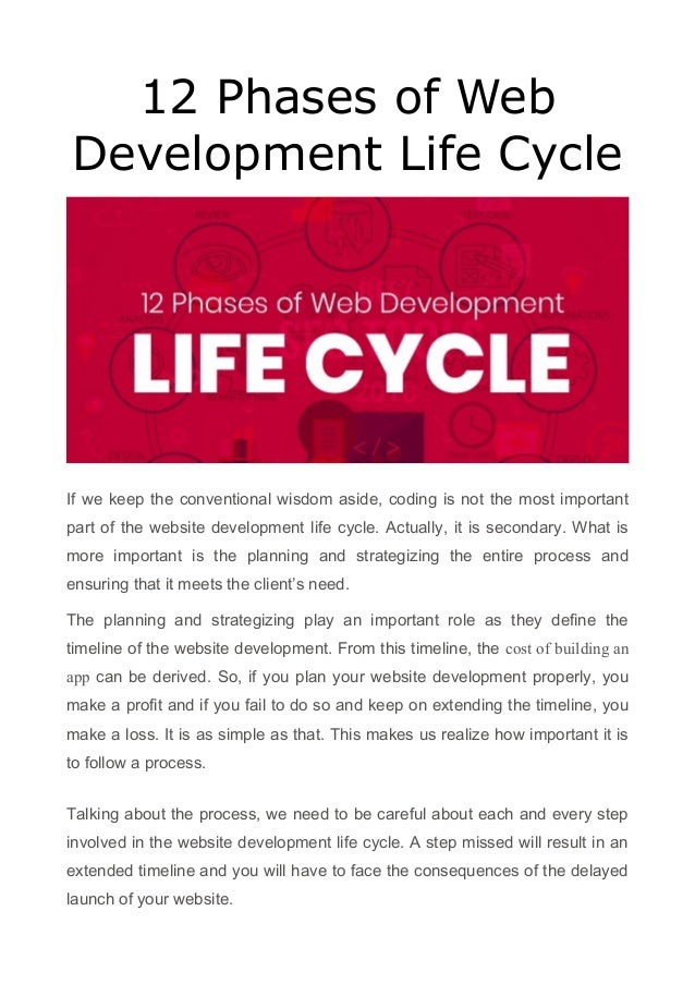 12 Phases of Web Development Life Cycle If we keep the conventional wisdom aside, coding is not the most important part of...