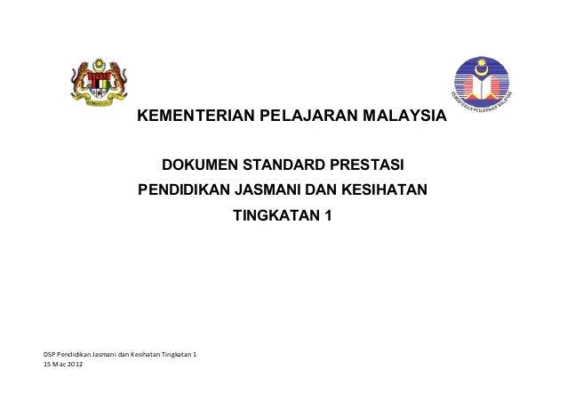 KEMENTERIAN PELAJARAN MALAYSIA                                     DOKUMEN STANDARD PRESTASI                             P...