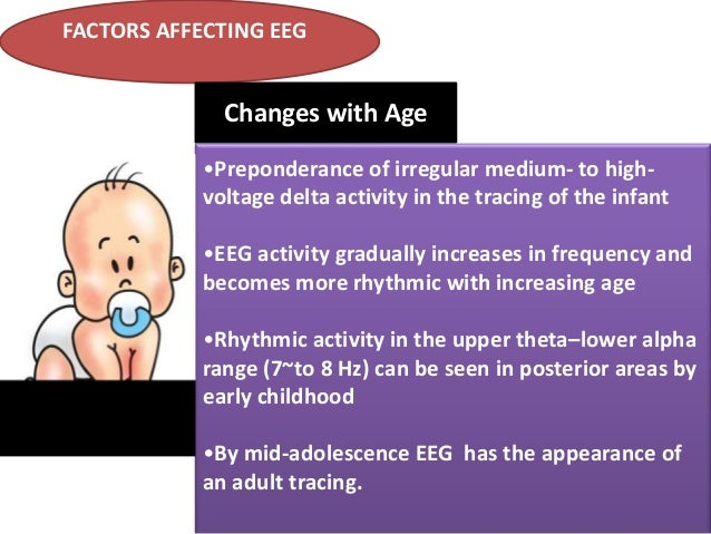 FACTORS AFFECTING EEG  Changes with Age •Preponderance of irregular medium- to highvoltage delta activity in the tracing o...