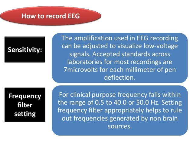How to record EEG  Sensitivity:  Frequency filter setting  The amplification used in EEG recording can be adjusted to visu...