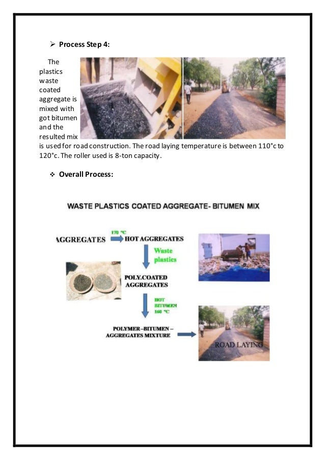 USE OF PLASTIC WASTE IN ROAD CONSTRUCTION