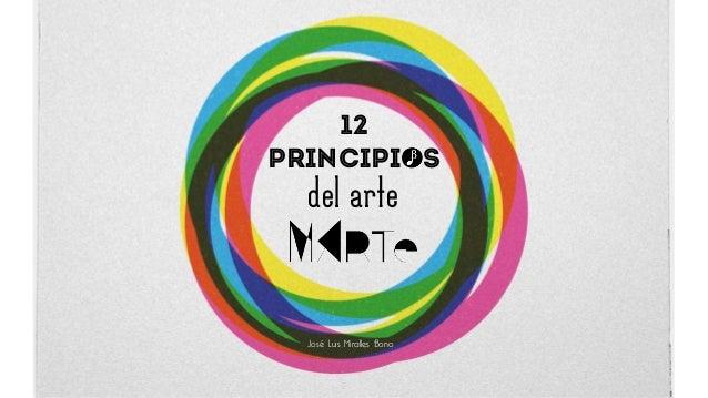 12 Principios del arte José Luis Miralles Bono