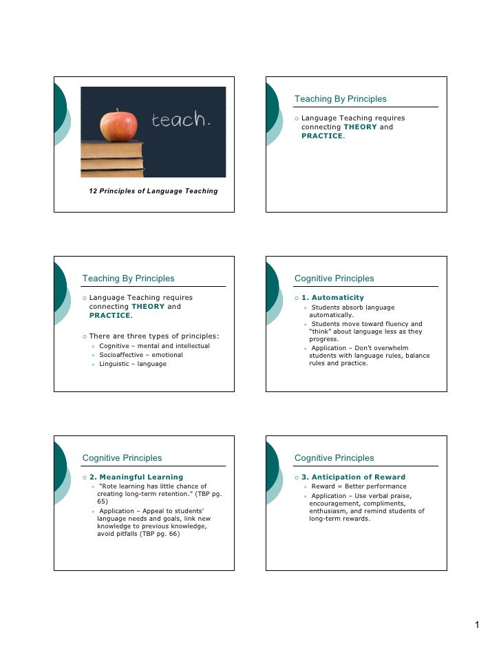 Teaching By Principles                                              Language Teaching requires                            ...