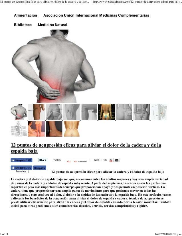 12 puntos de acupresión eficaz para aliviar el dolor de la cadera y d…