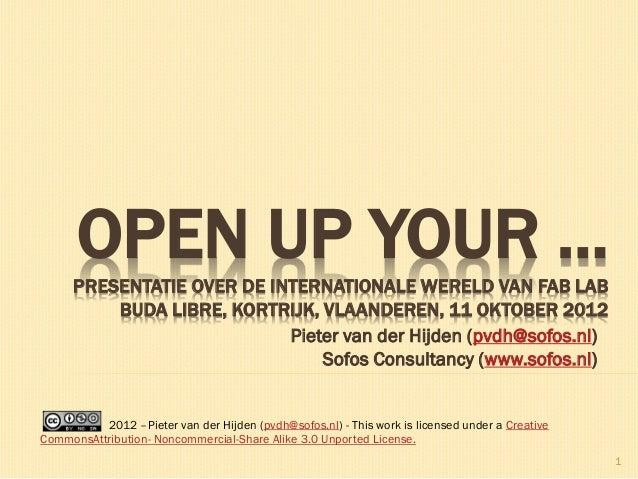 Pieter van der Hijden (pvdh@sofos.nl) Sofos Consultancy (www.sofos.nl) 1 OPEN UP YOUR ...PRESENTATIE OVER DE INTERNATIONAL...