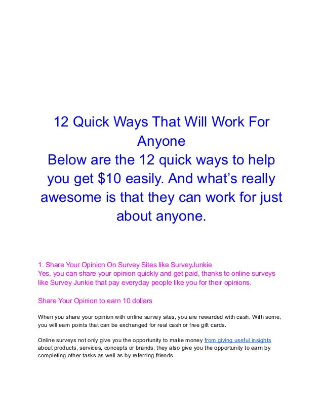 12 quick ways that will work for anyone Slide 2