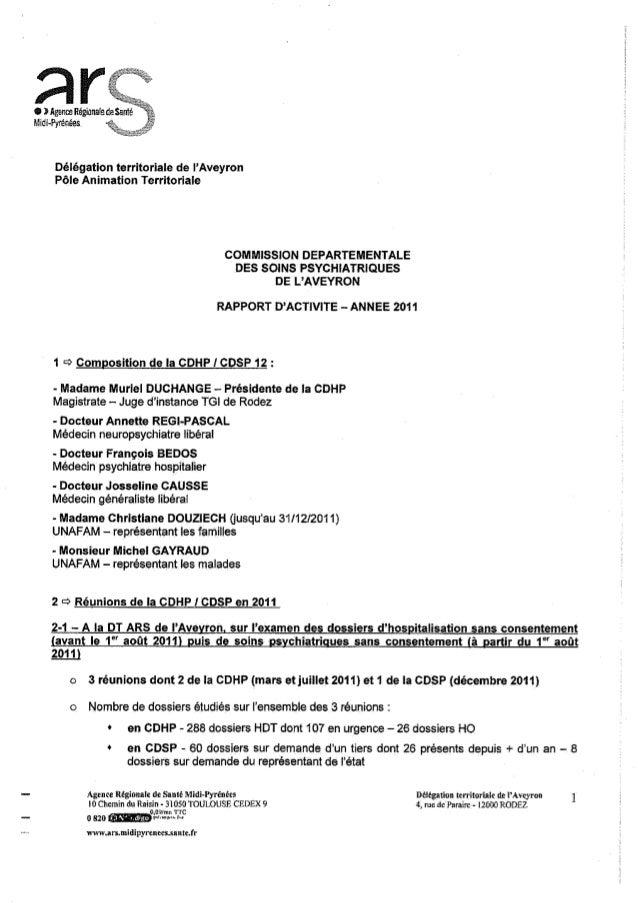 12 rapport activité cdsp 2011