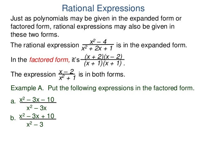 12 Rational Expressions