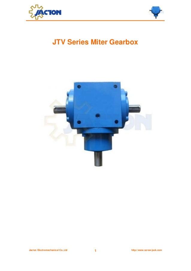 JTV Series Miter Gearbox  Jacton Electromechanical Co.,Ltd  1  http://www.screw-jack.com