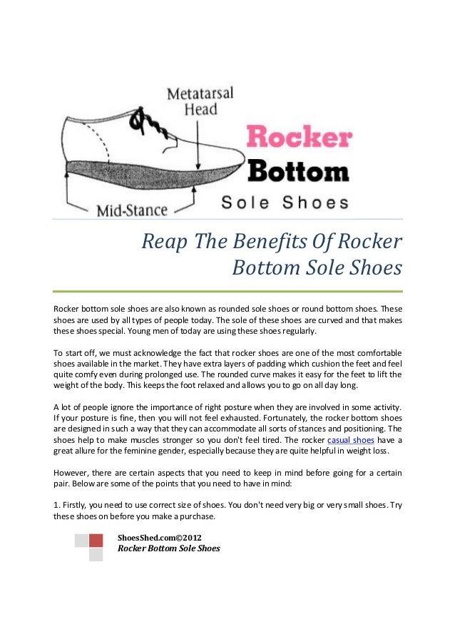 Benefits of Rocker Bottom Sole Shoes