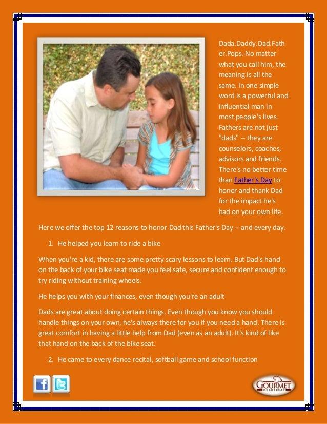 12 reasons to honor dad Slide 2