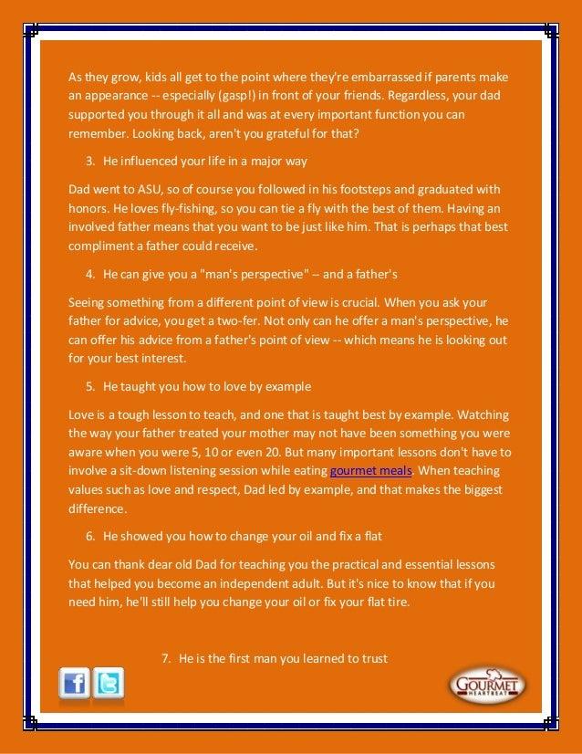 12 reasons to honor dad Slide 3