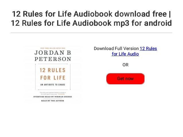 download 12 rules for life audiobook free