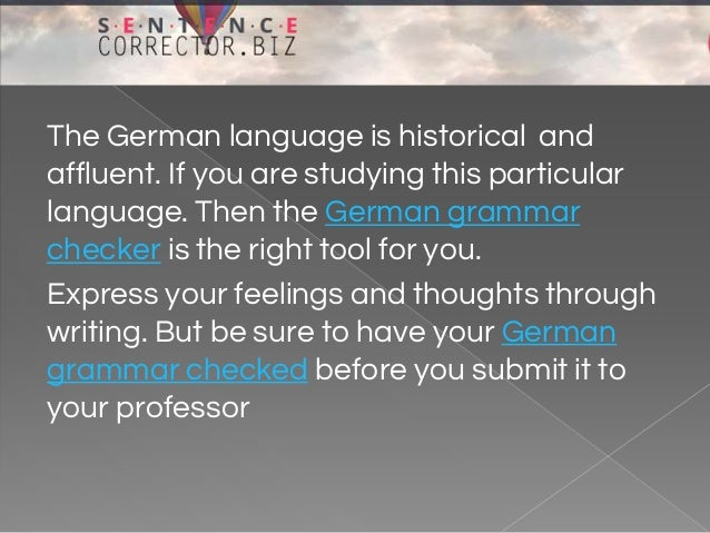 german essay corrections Search in the english-german dictionary: find a german translation in the free english dictionary from babla.