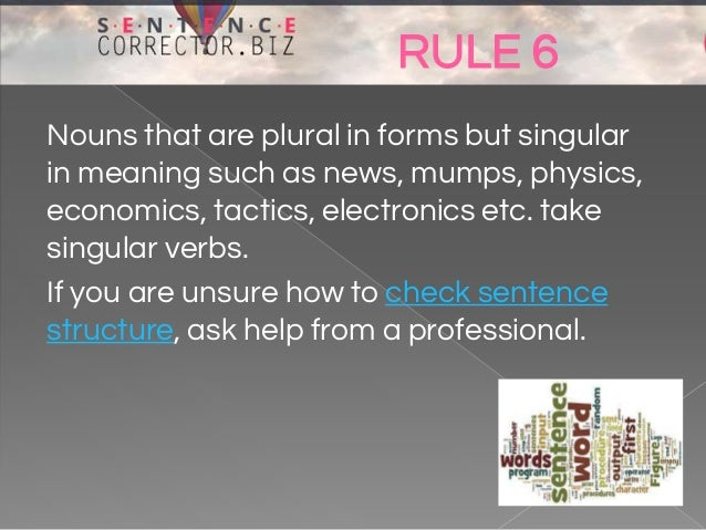 how to solve sentence arrangement in english