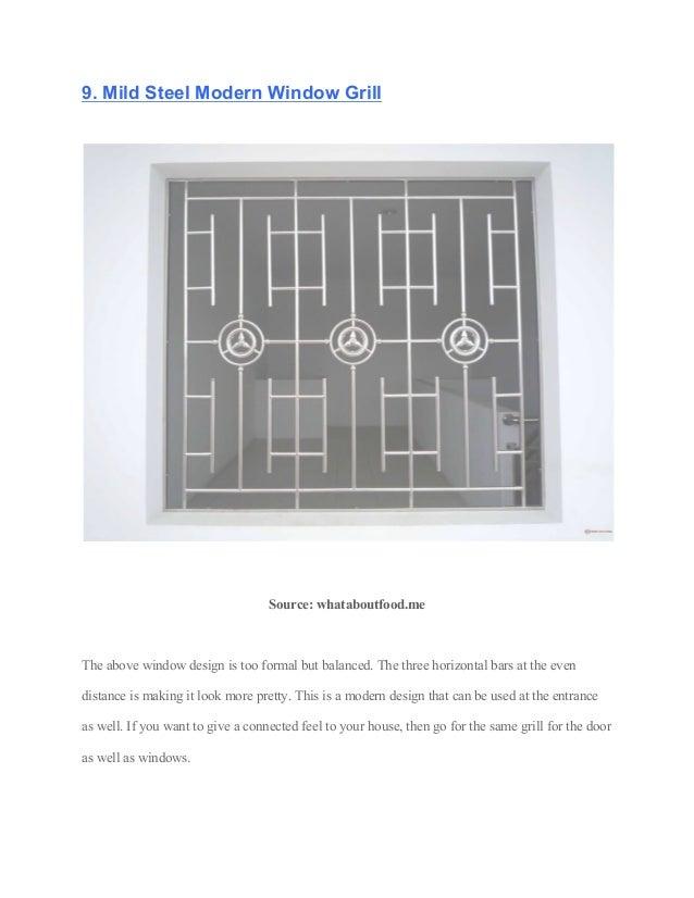 12 Safest And Elegant Window Grill Design 2019