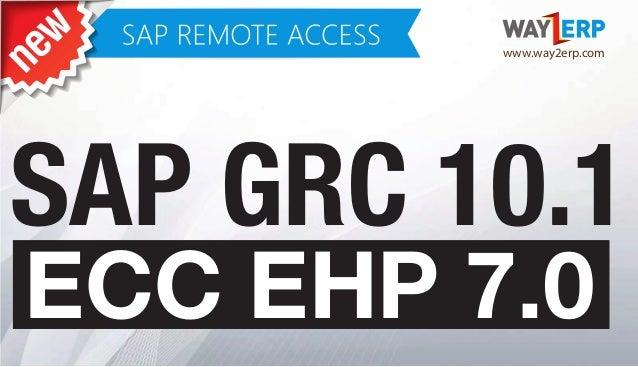 SAP ECC EHP7 GRC 10 1 Remote Access
