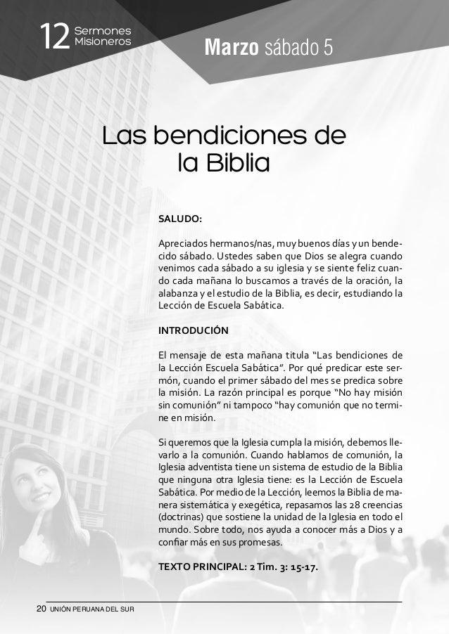 12 Sermones Misioneros - Unión Peruana del Sur