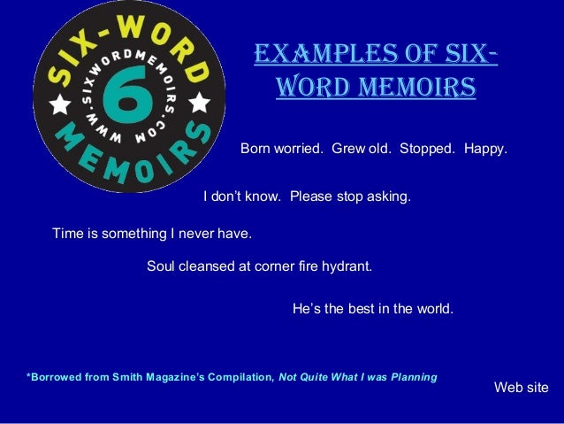how to write a six word biography
