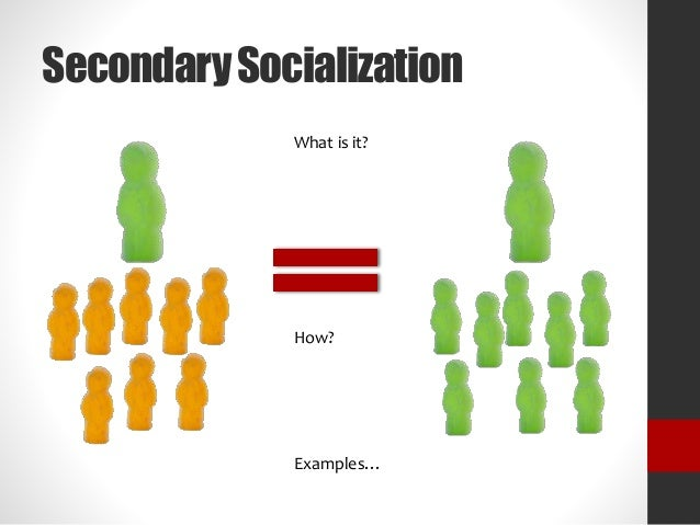 secondary socialization essay Paper 2: socialisation, culture and identity (50% of the course)   your  research methods, sampling methods, secondary evidence and the potential  problems.