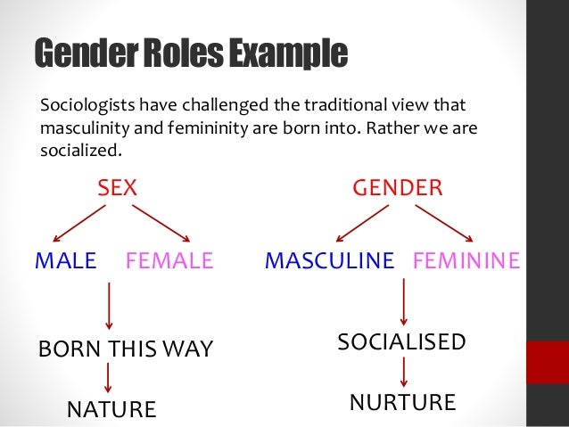 change and reestablishment of gender roles