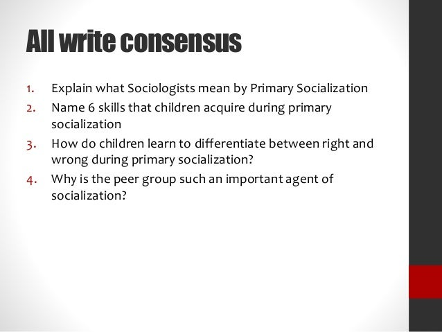primary socialization theory