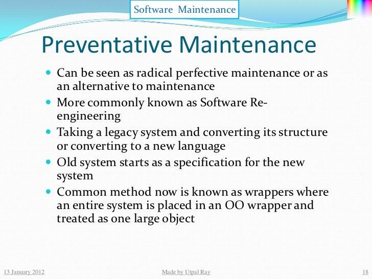 12 software maintenance