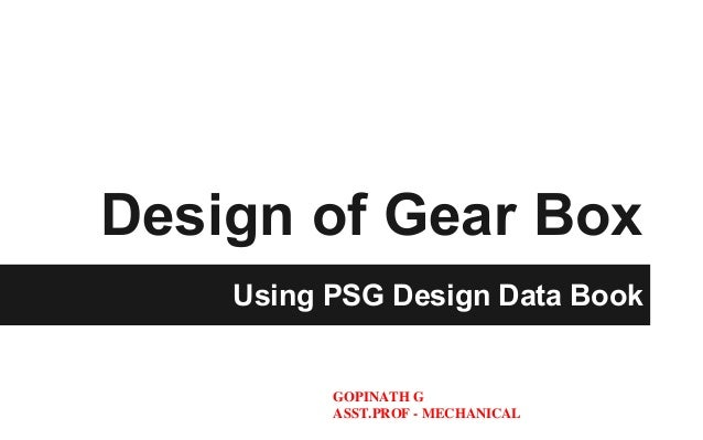 psg design data book pdf
