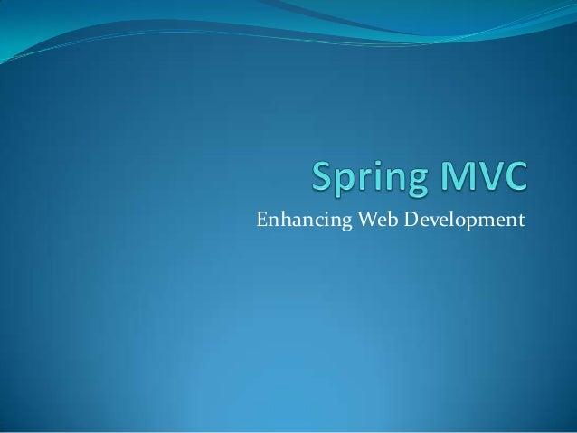 Enhancing Web Development